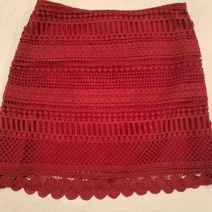 AQUA lace skirt